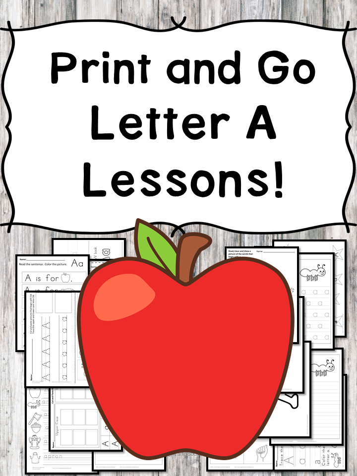 Letter A Lessons: Print and Go Letter of the Week fun!
