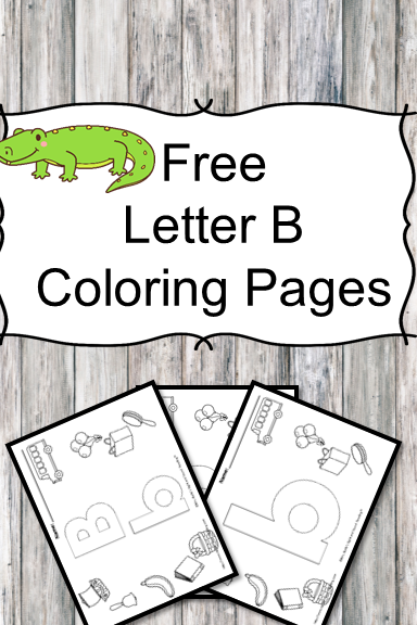 Letter B Coloring Pages -Free letter Coloring Pages for Preschool or Kindergarten