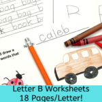 Beginning Sounds Letter B worksheets for Kindergarten