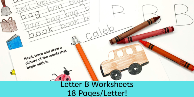 18 free Beginning Sound B Worksheets with easy download