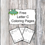 Letter C Coloring Pages -Free letter Coloring Pages for Preschool or Kindergarten