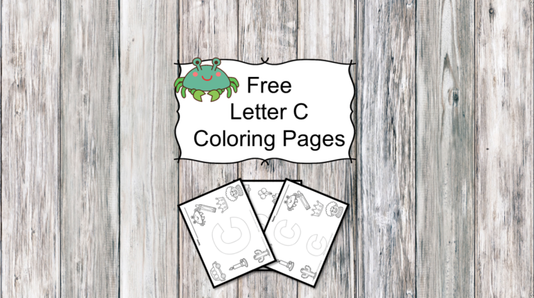 3 Letter C Coloring Pages- Easy Download!