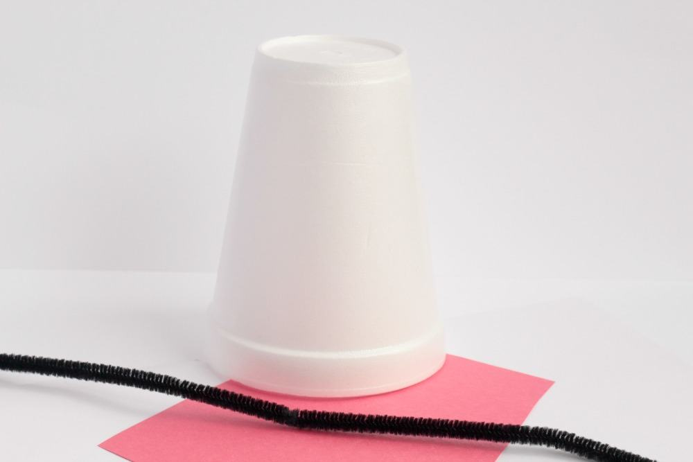 Letter C Craft: Styrofoam Cup Cat - MATERIALS