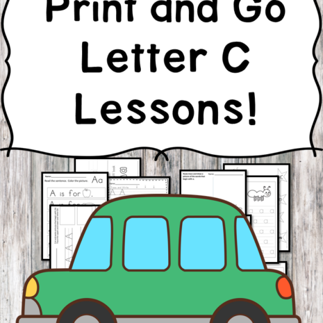 Letter C Lessons: Print and Go Letter of the Week fun!