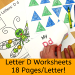 Letter D Worksheets for Kindergarten