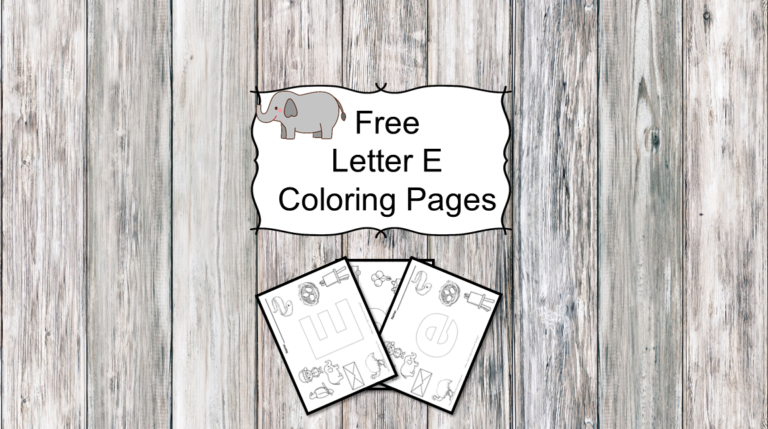 3 Letter E Coloring Pages – Easy Download!