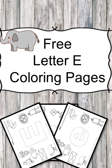 Letter E Coloring Pages -Free letter Coloring Pages for Preschool or Kindergarten