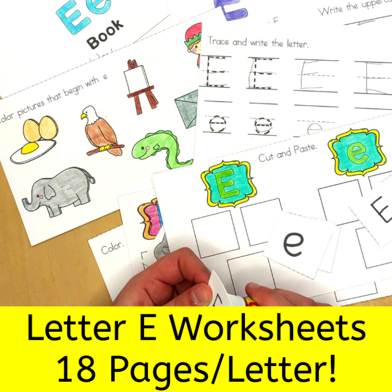 18 Free Beginning Sounds E Worksheets with easy download