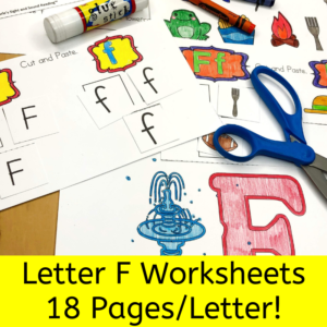 Letter F Worksheets for Kindergarten