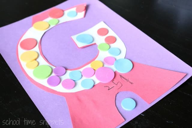 Letter G Crafts for preschool or kindergarten – Fun, easy and