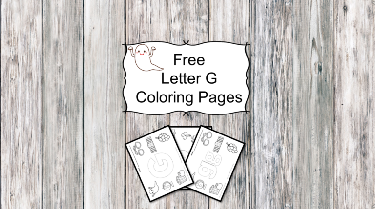 3 Letter G Coloring Pages – Easy Download!