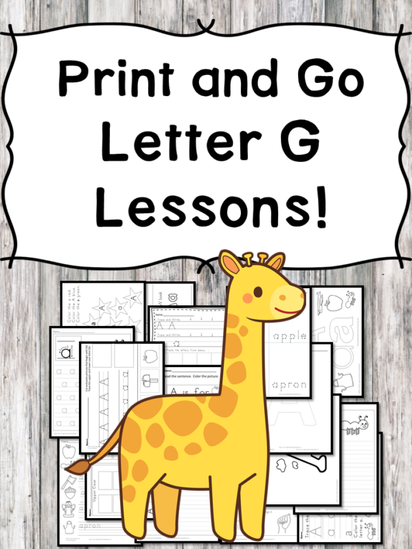 Letter G Lessons: Print and Go Letter of the Week fun!