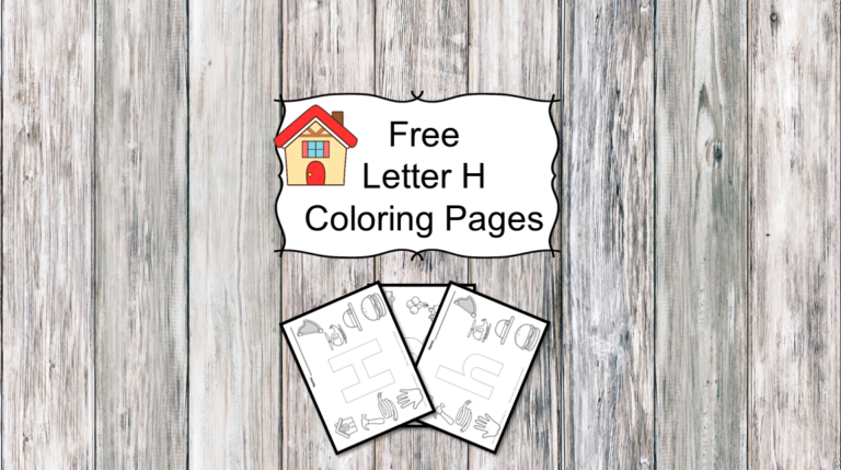 3 Letter H Coloring Pages- Easy Download!