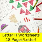 Letter H Worksheets for Kindergarten