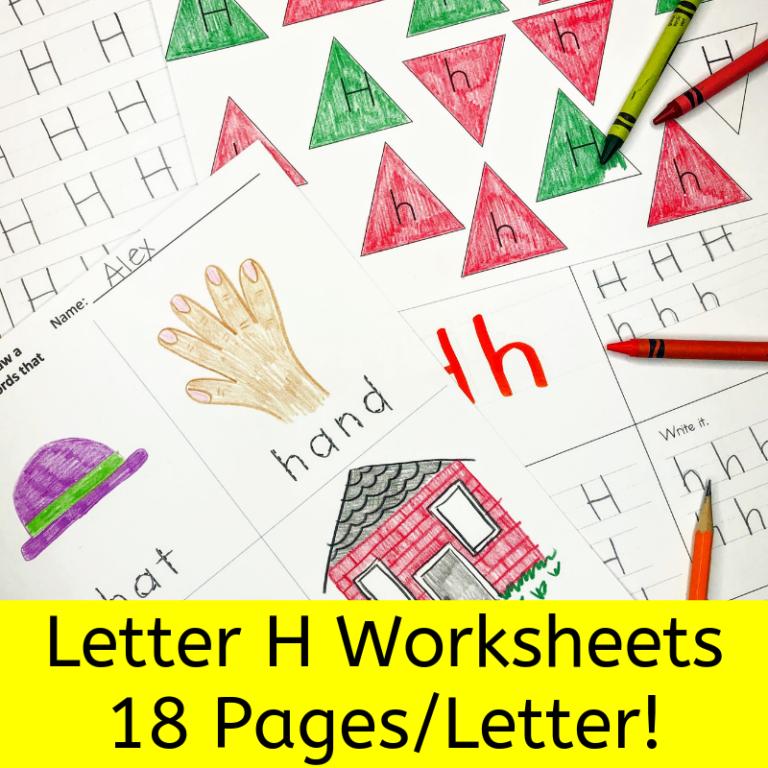 18 free Beginning Sound H Worksheets: Free Download