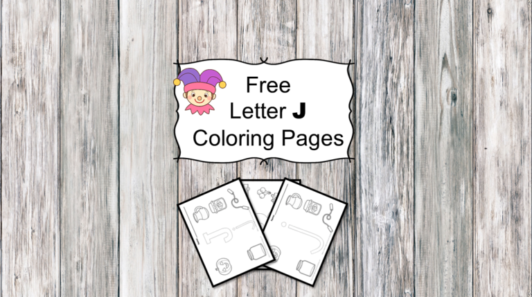 3 Letter J Coloring Pages- Easy Download!