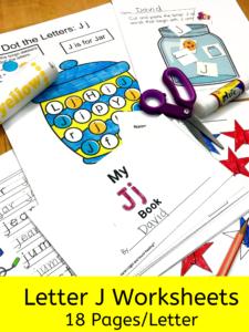 Letter J letter recognition worksheets for beginning sounds and lessons
