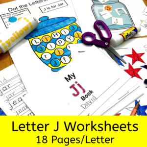 Letter J worksheets for beginning sounds and lessons