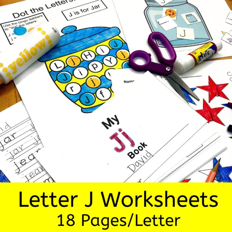 18 free Beginning Sound J Worksheets: Easy download!