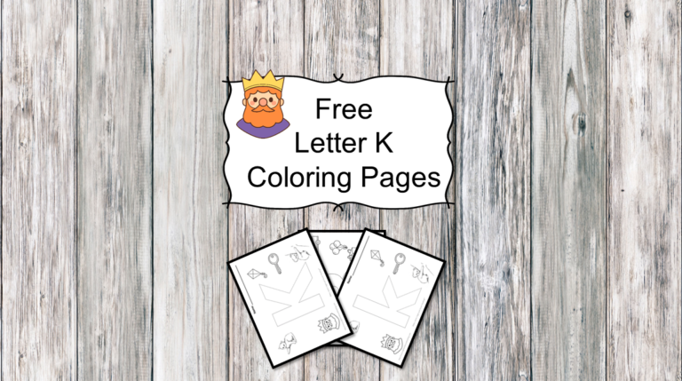3 Letter K Coloring Pages- Easy Download!