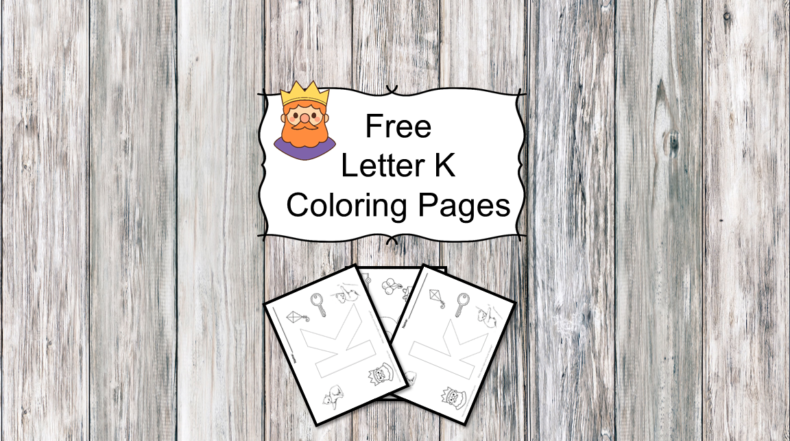 Letter K Coloring Pages -Free letter Coloring Pages for Preschool or Kindergarten