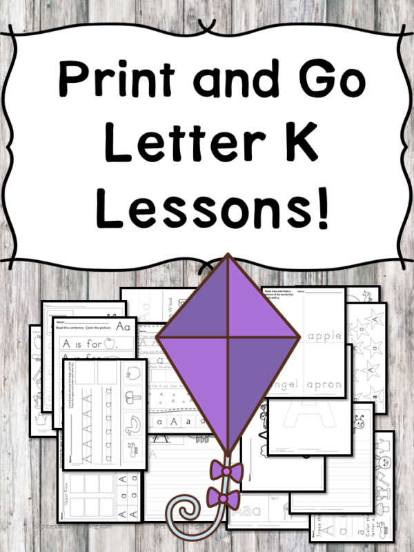 Letter K Lessons: Print and Go Letter of the Week fun!