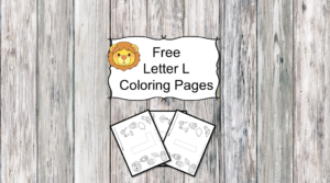 Letter L Coloring Pages -Free letter Coloring Pages for Preschool or Kindergarten