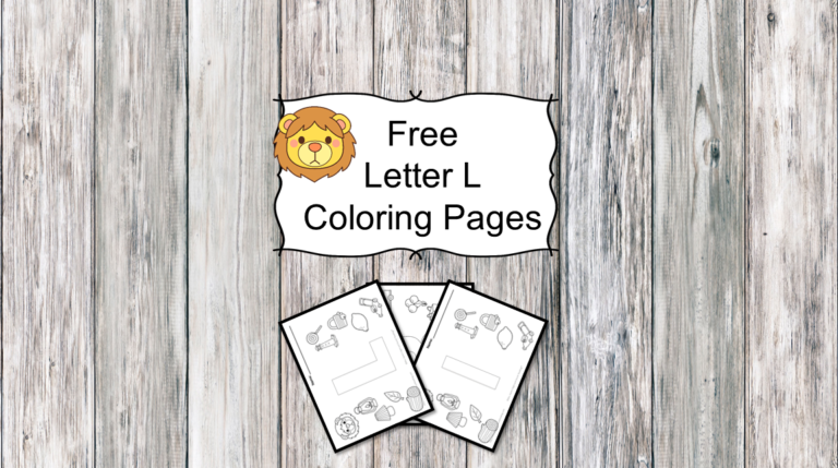 3 Letter L Coloring Pages- Easy Download!