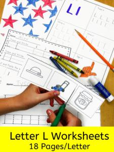 Letter L letter recognition worksheets for beginning sounds and lessons