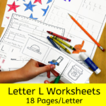 Letter L worksheets for beginning sounds and lessons