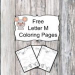 Letter M Coloring Pages -Free letter Coloring Pages for Preschool or Kindergarten