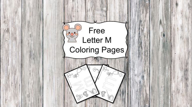 3 Letter M Coloring Pages- Easy Download!