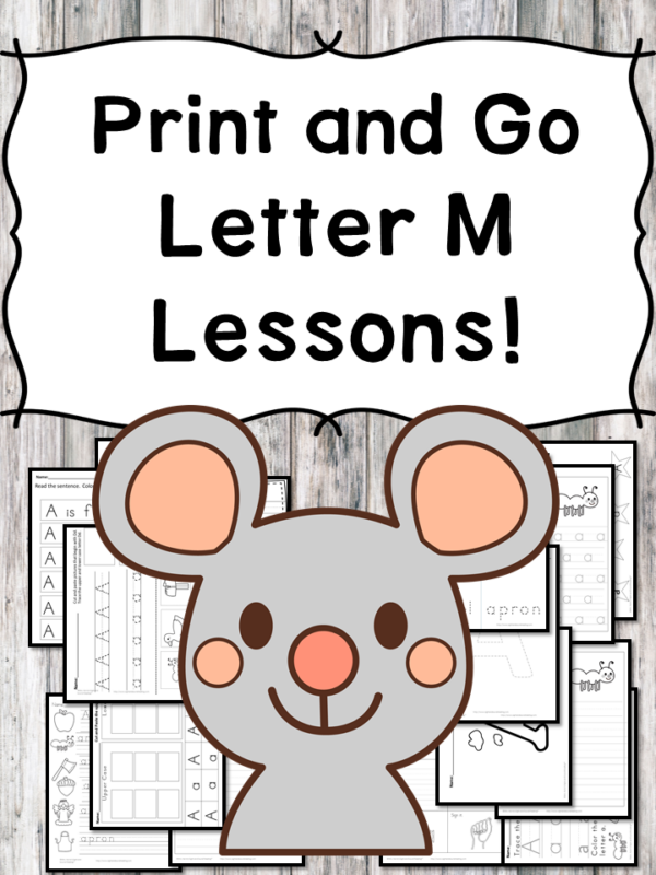 Letter M Lessons: Print and Go Letter of the Week fun!