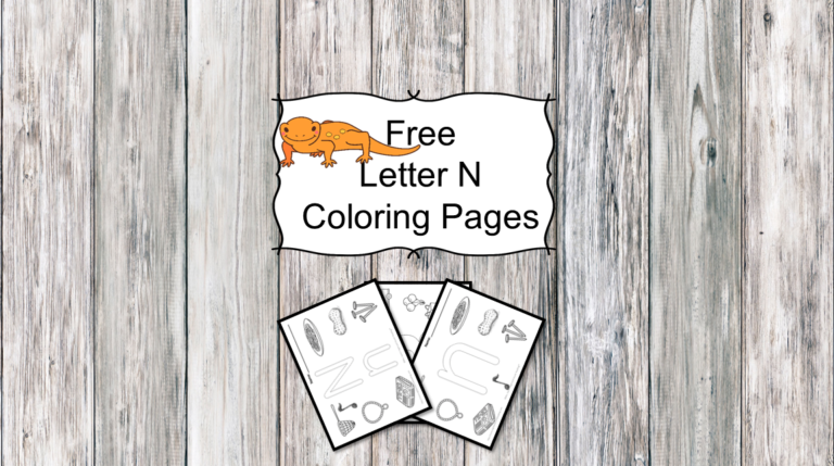 3 Letter N Coloring Pages- Easy Download!
