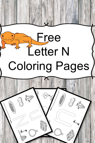 Letter N Coloring Pages -Free letter Coloring Pages for Preschool or Kindergarten