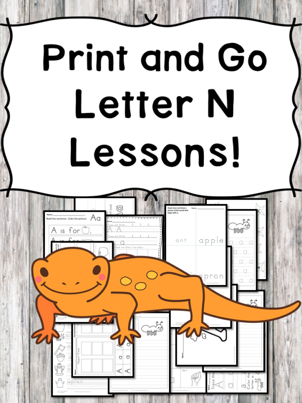 Letter N Lessons: Print and Go Letter of the Week fun!