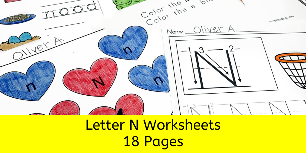 18 Free Beginning Sound N Worksheets -Easy Download!