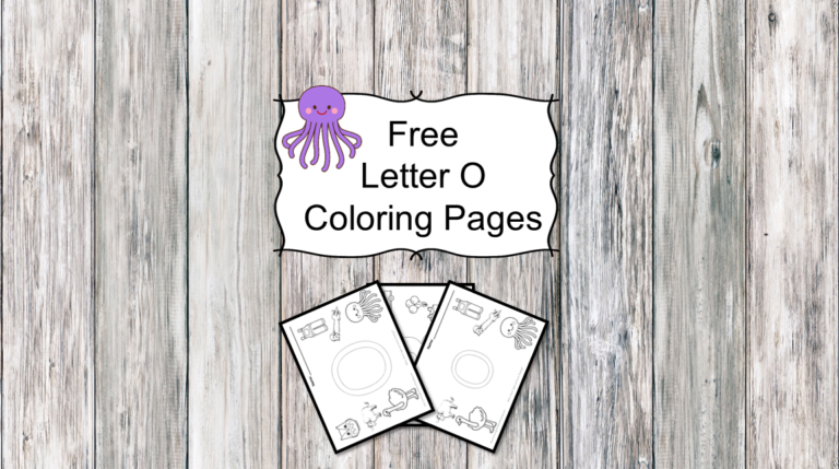 3 Letter O Coloring Pages -Easy Download!