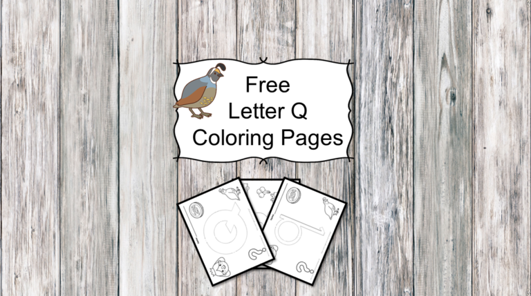 3 Letter Q Coloring Pages – Easy Download!