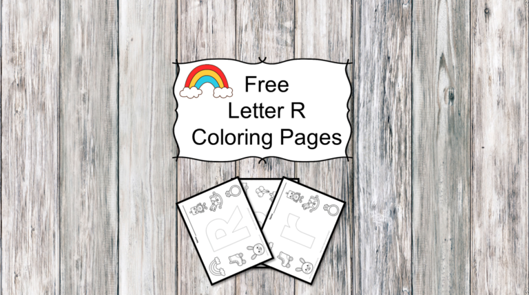 3 Letter R Coloring Pages – Easy Download!