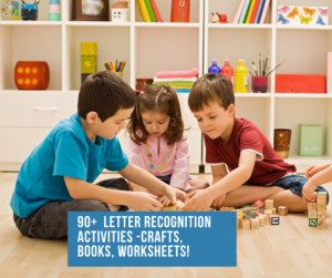 Letter recognition worksheets and activities