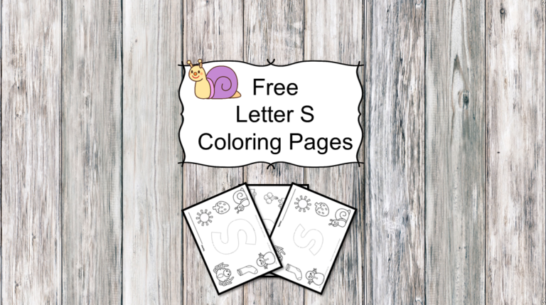 3 Letter S Coloring Pages- Easy Download!
