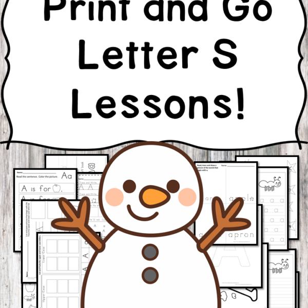 Letter S Lessons: Print and Go Letter of the Week fun!