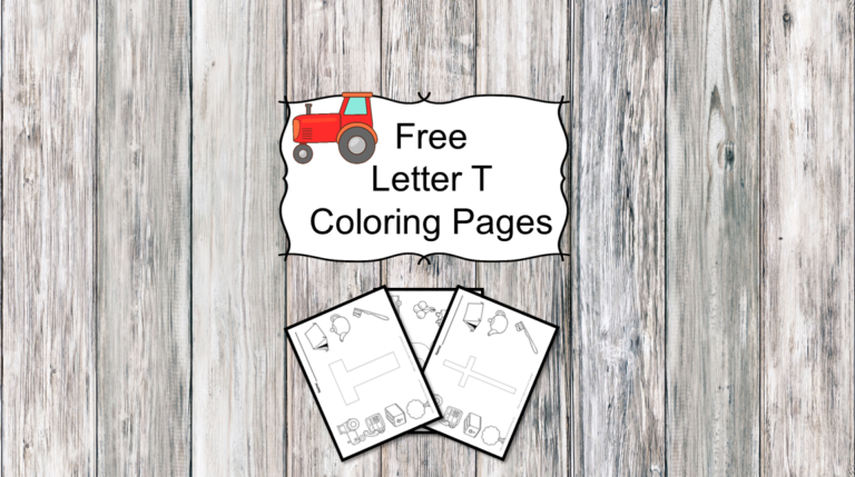 3 Letter T Coloring Pages – Easy Download!