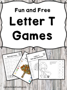 Letter T Games - Fun games to help teach the letter T Sound - great for preschool or kindergarten!