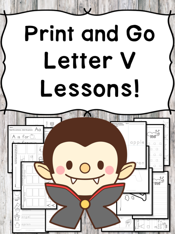 Letter V Lessons: Print and Go Letter of the Week fun!