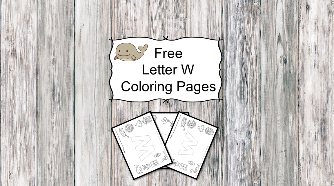Letter W Coloring Pages -Free letter Coloring Pages for Preschool or Kindergarten