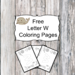 Letter W Coloring Pages -Free letter W Coloring Pages for Preschool or Kindergarten