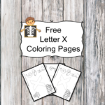 Letter X Coloring Pages -Free letter Coloring Pages for Preschool or Kindergarten