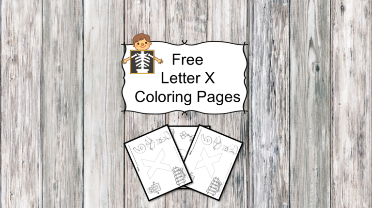 3 Letter X Coloring Pages- Easy Download!